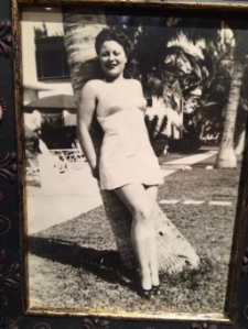 My grandma posing for the camera as a young woman.